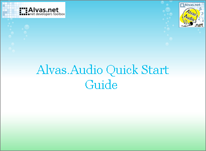 Alvas.Audio Quick Start Guide